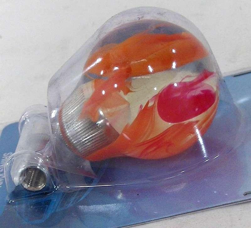 Orange/red clear shift knob 60mm M12x1.25,M10x1.25/1.5,M8x1.25